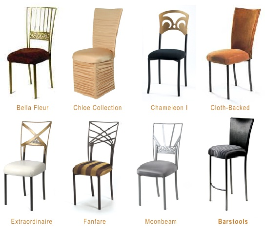 What is your wedding chair style behind the wedding for All types of chairs