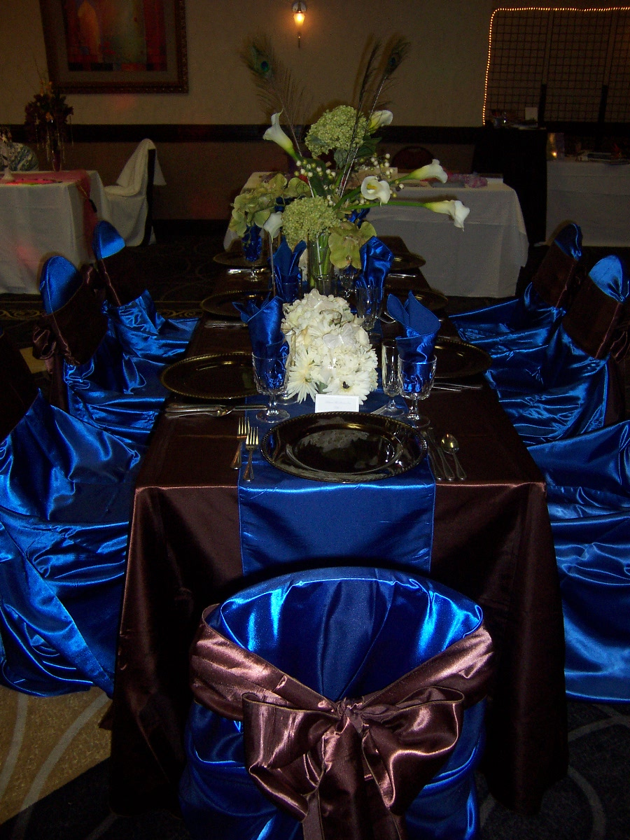 Wedding centerpieces ideas royal blue wedding by designs royal blue wedding centerpieces ideas royal blue junglespirit Images