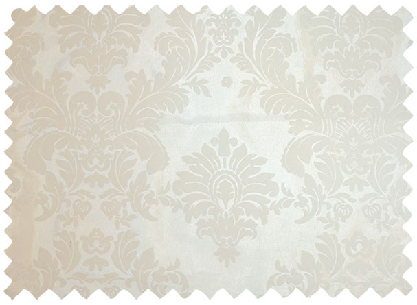 Ivory Flocking Damask