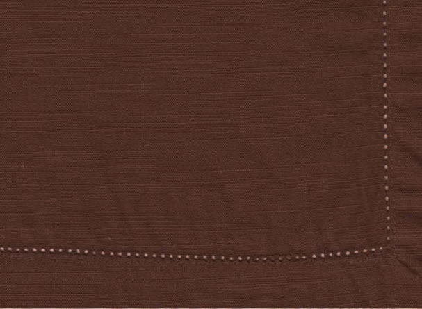 Brown Hemstitch