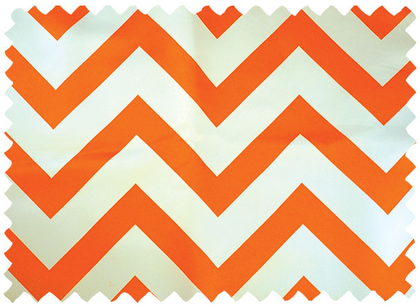 Orange Chevron Print