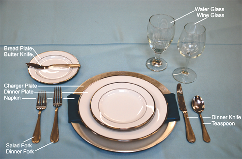 lunch table setting – Loris Decoration